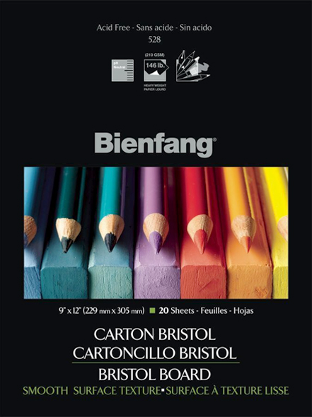 "Bienfang® 11 x 14 Smooth Finish White Drawing Bristol Board Pads: Smooth, Pad, 20 Sheets, 11"" x 14"", 146 lb"