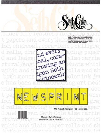 Alvin Seth Cole Newsprint Pad 24 x 36inches 50Sheets 30Lb.