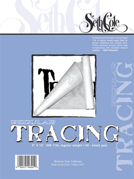 Alvin Seth Cole Tracing Paper 11 x 14inches 50 Sheet Pad