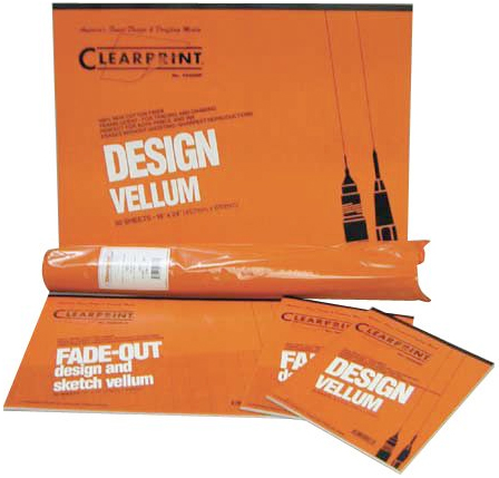 Alvin Clearprint 1020® Vellum 20Lb. 24 x 36inches Grid 8 x 8inches 100 Sheet Pack
