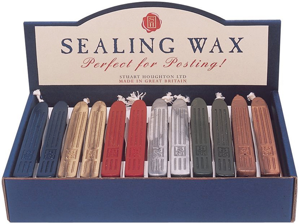 Manuscript Sealing Wax Display: 36-Pieces, 6 of each Assorted Colors