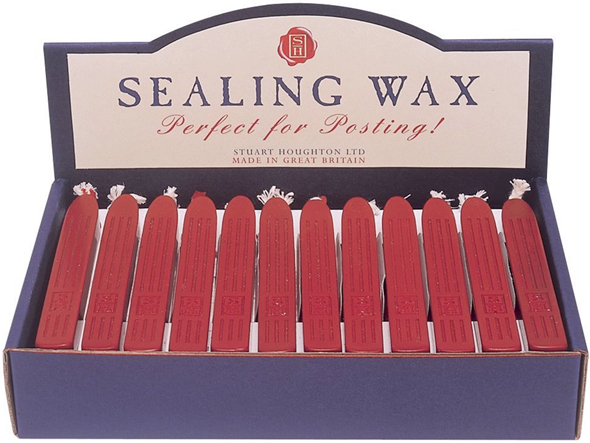 Manuscript  Sealing Wax Display: Red, 36-Pieces