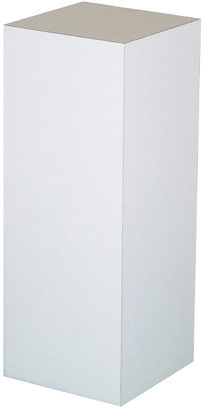 "Xylem White Laminate Pedestal: 12"" x 12"" Base, 12"" Height"