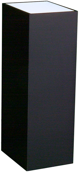 Lighted Black Laminate Pedestal