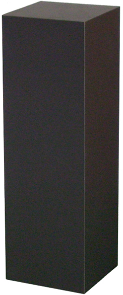 "Xylem Black Laminate Pedestal: 15"" x 15"" Base, 30"" Height"