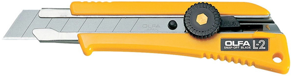 Alvin Olfa® X-Heavy Duty Cutter No Slip Utility Knife With Rubber Handle