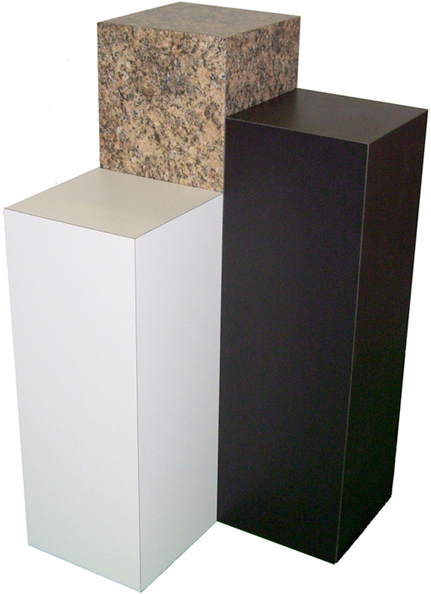 "Xylem Black Laminate Pedestal: 12"" x 12"" Base, 12"" Height"