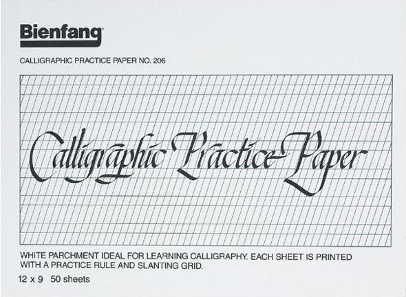 9 Quot X 12 Quot Calligraphic Practice Paper Pad Artist Supply