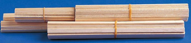"Alvin® Bass Wood Strips 1/32 x 1/16: Strip, 50 Strips, 1/32"" x 1/16"", 24"""
