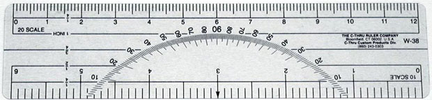 Protractor/Scale/Rulers: Plastic Flexible Transparent