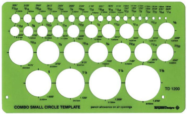 Alvin Small Circle Guide Template