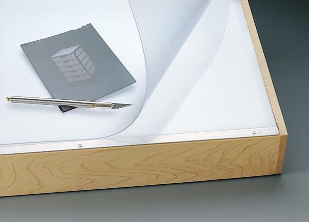 "Alvin® VYCO Translucent Board Cover 37 1/2"" x 72"" Sheet: Clear, White/Ivory, Sheet, Vinyl, 37 1/2"" x 72"""