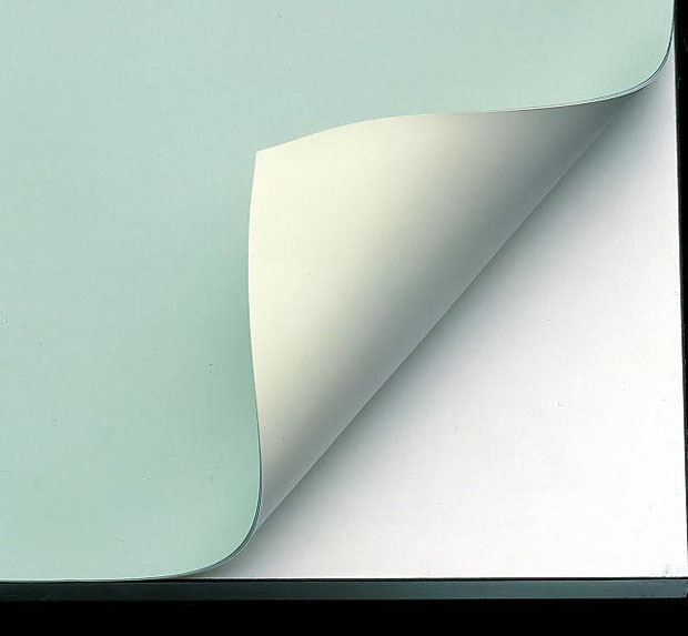 "Alvin Vyco Board Cover: Pre-cut Sheet, Green/Cream, 43.5"" x 84"", 9 lbs."