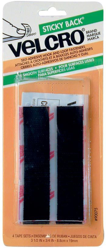 Velcro® Sticky Back® Strips: Black, 3.5 X 3/4