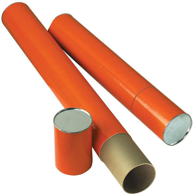Alvin Fiberboard Mailing Tube: 37 X 4 Inches, Orange