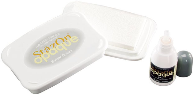 StazOn® Solvent Ink Pad With Re-Inker Butter Cream
