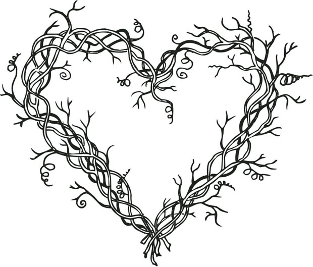 Sarasota Stamps Mounted Rubber Stamp: Heart Wreath