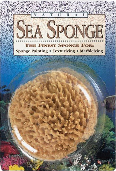 "Hydra Sponge Natural Sea Sponge: Wool Painting Sponge, 5""-6"", Blister-Carded"