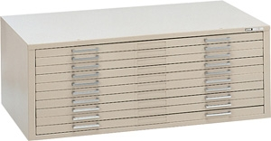 "Mayline C-File: 10 Drawers, Sand, 53 3/4""W x 41 3/8""D x 15 3/8""H"