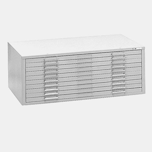"Mayline C-File: 10 Drawers, White, 40 3/4""W x 28 3/8""D x 15 3/8""H"
