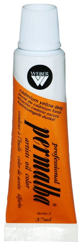 Professional Permalba Cadmium Yellow Deep: 37ml Tube