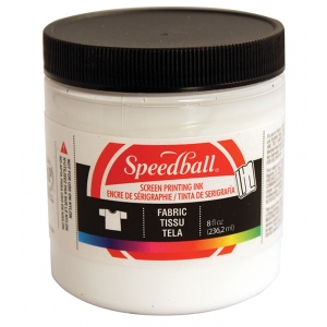 Speedball® 8 oz. Fabric Screen Printing Ink White: White/Ivory, Jar, Fabric, 8 oz, Screen Printing