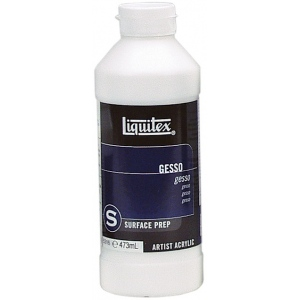 Liquitex® White Gesso 16oz: White/Ivory, 16 oz, Acrylic Painting, Gesso, (model 5316), price per each