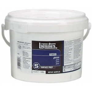 Liquitex® White Gesso 64oz: White/Ivory, 64 oz, Acrylic Painting, Gesso