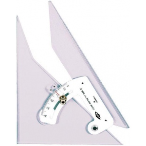 "Alvin® Clear-Angle 12"" Adjustable Triangle: Adjustable, Clear, Acrylic, 12"", Triangle, (model 1612), price per each"