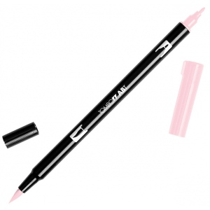 Tombow® Dual Brush® ABT Pen Baby Pink: Red/Pink, Double-Ended, Dye-Based, Brush Nib, Fine Nib, Brush Pen