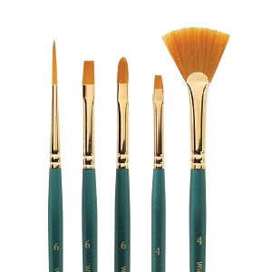 Winsor & Newton™ Regency Gold Series 550 Filbert Short Handle Brush