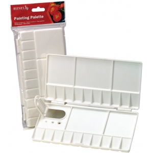 Reeves™ Small Folding Plastic Palette: Plastic, Small, (model 8490527), price per each