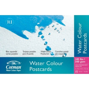 "Winsor & Newton™ Cotman™ 4"" x 6"" Watercolor Cold Press Paper Postcard Pad : Postcard, 4"" x 6"", Cold Press, Watercolor, 140 lb, (model 6917091), price per pad"