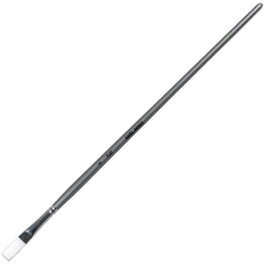 Liquitex® Basics Flat Long Handle Brush #8: Long Handle, Flat, Acrylic, (model 6923008), price per each