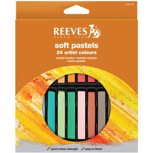 Reeves™ Soft Pastels 24-Color Set: Multi, Stick, Soft, (model 8790175), price per set