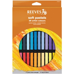 Reeves™ Soft Pastels 36-Color Set: Multi, Stick, Soft, (model 8790225), price per set