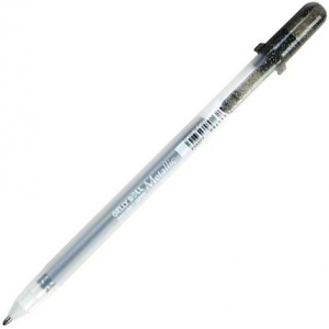 Gelly Roll® Black Metallic Gel Pen: Black/Gray, Metallic, Gel, 1mm