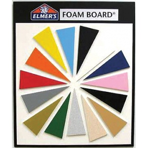 "Elmer's® 40"" x 60"" x 1/2"" Thick Foam Board White 12bx: White/Ivory, Sheet, 20"" x 30"", 1/2"", (model 90402), price per box"