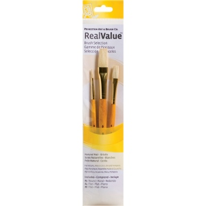 Princeton™ RealValue™ Watercolor Oil Acrylic and Tempera Brush Sets