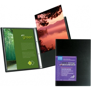 "Itoya® Art Profolio® Advantage 5"" x 7"" Presentation/Display Book: Black/Gray, Polypropylene, 24 Pages, 5"" x 7"", (model AD245), price per each"