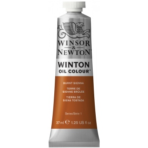 Winsor & Newton™ Winton Oil Color 37ml Burnt Sienna: Brown, Red/Pink, Tube, 37 ml, Oil, (model 1414074), price per tube