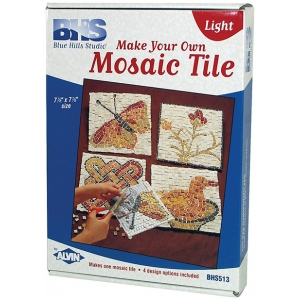 Blue Hills Studio™ Make Your Own Mosaic Tile - Light: Multi, Stone (Cuttable), Tile