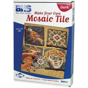 Blue Hills Studio™ Make Your Own Mosaic Tile - Dark: Multi, Stone (Cuttable), Tile, (model BHS514), price per set