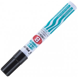 Pilot®  Super Color Permanent Broad Marker Black: Black/Gray, Chisel Nib, (model SC40100), price per each