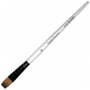 Daler-Rowney Simply Simmons Synthetic Acrylic/Multimedia Brush Flat Shader 1: Short Handle, Synthetic Bristle, Flat Shader, Acrylic, (model SS255060001), price per each