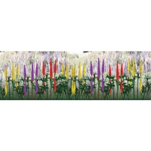"Wee Scapes™ Architectural Model Lupines: Green, 150 sq in, Poly Fiber, Turf, 3-Pack, 1/2"", Flowers, (model WS00356), price per 3-Pack"