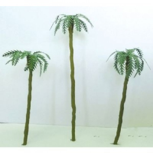 "Wee Scapes™ Architectural Model Assorted Palm Trees 1"" to 3"" 4-Pack: Green, Wire, 4-Pack, 1"" - 3"", Tree, (model WS00359), price per 4-Pack"