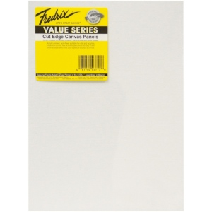 "Fredrix® Value Series Cut Edge 9"" x 12"" Canvas Panels 6-Pack: White/Ivory, Panel, 9"" x 12"", Acrylic, (model T3713), price per pack"