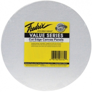 Fredrix® Value Series Cut Edge Round Canvas Panels 6-Pack