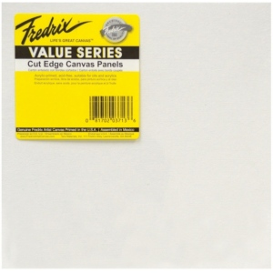 "Fredrix® Value Series Cut Edge 12"" x 12"" Canvas Panels 6-Pack: White/Ivory, Panel, 12"" x 12"", Acrylic, (model T3737), price per pack"